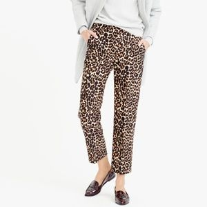 J. Crew Collection Wool-silk Patio Pant In Leopard
